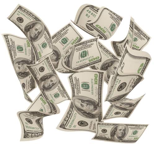 dollar bills falling on - photo #4