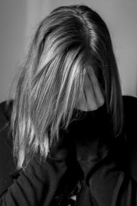distressed teen