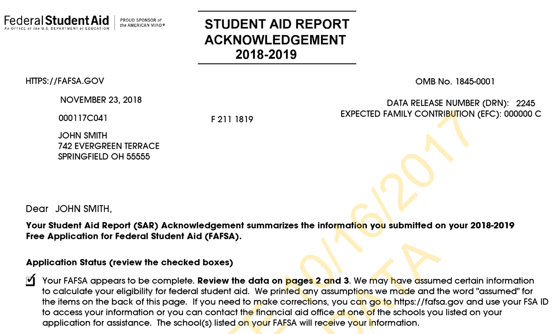 Css Profile Filers Will Not Receive An Efc From The College Board Which Owns And Operates This Financial Aid Lication